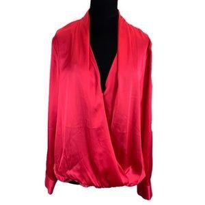 Apt. 9 Wrap Pink Front Blouse Medium